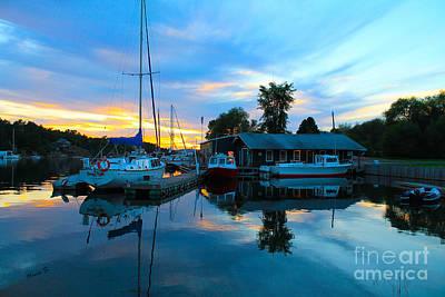 Photograph - Killarney Boathouse At Sunset by Nina Silver