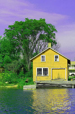 Photograph - Killarney Channel Boathouse by Nina Silver