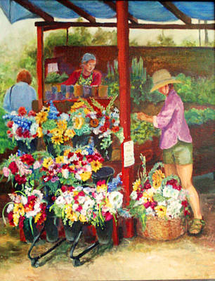 Killarney Farms Booth Art Print by Harriett Masterson