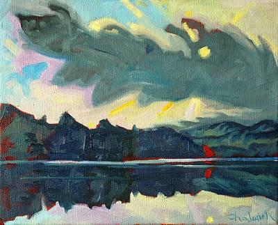 Charlton Painting - Killarney Foggy Sunrise by Phil Chadwick