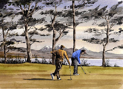Painting - Kerry Killarney Golf Club  by Val Byrne