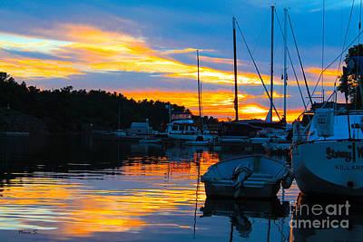 Photograph - Killarney Marina Sunset by Nina Silver
