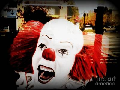 Photograph - Killer Clowns On The Loose by Kelly Awad