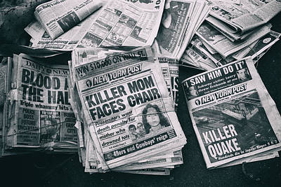 Photograph - Killer News by Dave Beckerman