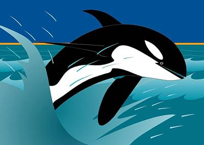 Digital Art - Killer Whale by Marie Sansone