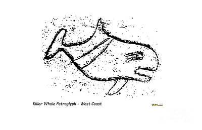 Mixed Media - Killer Whale Petroglyph by Art  MacKay