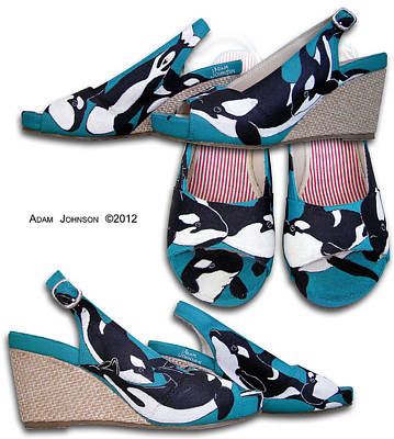 Painting - Killer Whale Wedges by Adam Johnson