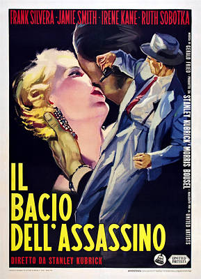 1955 Movies Photograph - Killers Kiss, Italian Poster, Irene by Everett
