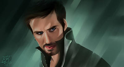 Captain Hook Painting - Killian Jones by Lydia Kinsey