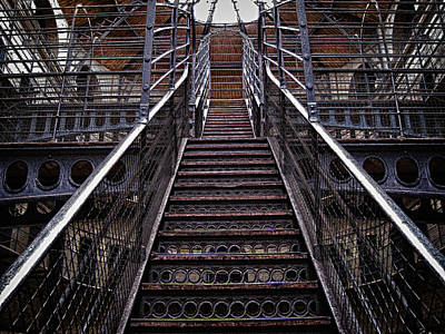 Photograph - Kilmainham Gaol Steps by Robert Woodward