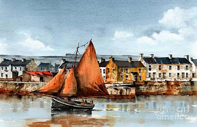 Painting - Kilronan Aran Islands Galway by Val Byrne