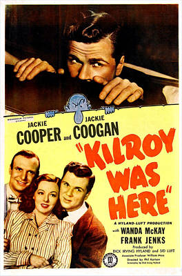 By Jackie Photograph - Kilroy Was Here, Us Poster, Jackie by Everett