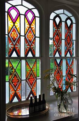Stained Glass Ireland Photograph - Kilrudderry Stained Glasss Window by Marcus Dagan