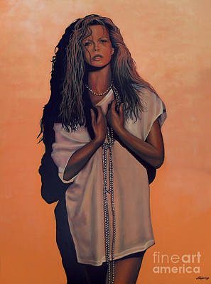 Kim Painting - Kim Basinger by Paul Meijering