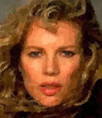 Painting - Kim Basinger Portrait by Samuel Majcen