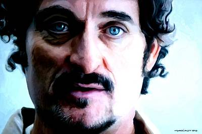 Digital Art - Kim Coates Large Size Portrait by Gabriel T Toro