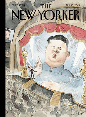 Korea Painting - Kim Jong-un Interrupts by Barry Blitt