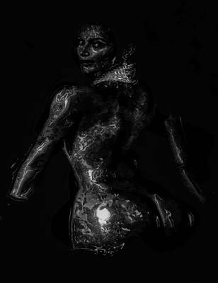 Kim Kardashian Digital Art - Kim Kardashian 1 by Brian Reaves