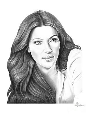 Famous People Drawing - Kim Kardashian by Murphy Elliott