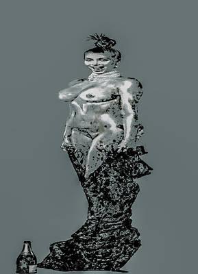 Kim Kardashian Digital Art - Kim Kardashian Surprise by Brian Reaves
