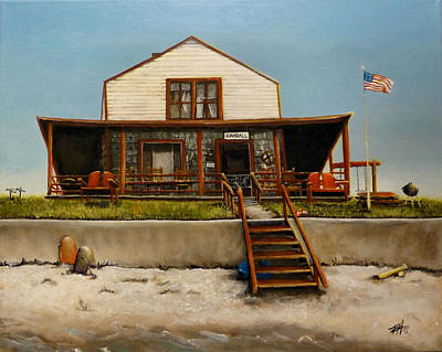 Wells Beach Painting - Kimball Cottage Wells Maine by Michelle Iglesias