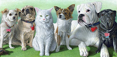 Boxer Painting - Kimberlin Crew by Cara Bevan