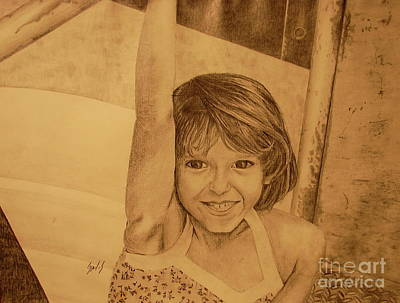 Drawing - Kimberly by Lew Davis