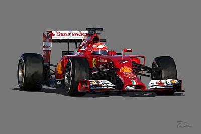 Kimi - Ferrari F14t Art Print