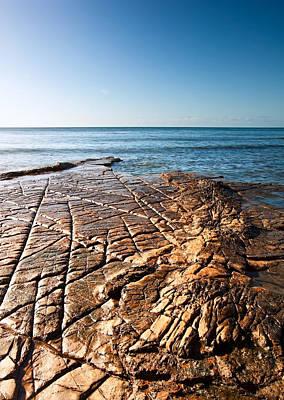 Kimmeridge Bay Seascape  Art Print by Matthew Gibson