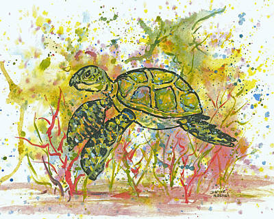 Painting - Kimo The Honu by Darice Machel McGuire