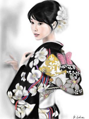 Kimono Girl No.1 Art Print by Yoshiyuki Uchida