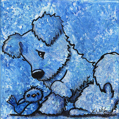 Cute Dogs Drawing - Kimpressions - Bird Dog by Kim Niles