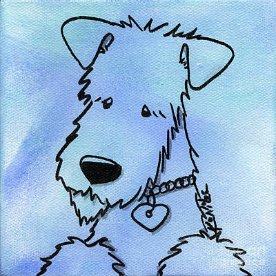 Wire Fox Terrier Painting - Kimpressions - Terrier by Kim Niles