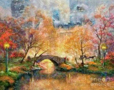 Painting - Kincade Inspired Impresssion by Scott B Bennett