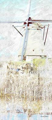 Digital Art - Kinderdijk 5b by Arie Van Garderen