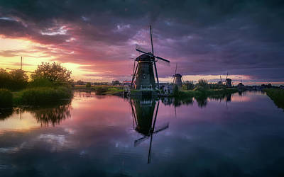Holland Wall Art - Photograph - Kinderdijk by Jes?s M. Garc?a