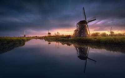 Holland Wall Art - Photograph - Kinderdijk Windmills by Jes?s M. Garc?a
