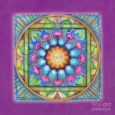 Mandala Painting - Kindness Mandala by Jo Thomas Blaine