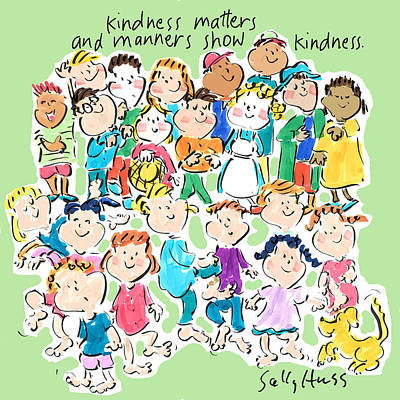 Kindness Matters Art Print by Sally Huss