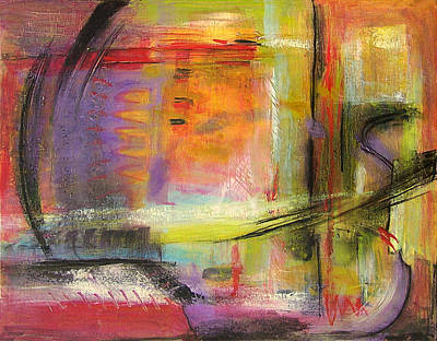 Nature Abstract Painting - Kindness Of Strangers Abstract by Blenda Studio