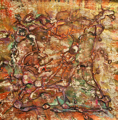 Painting - Kindred Copper II by Cleaster Cotton