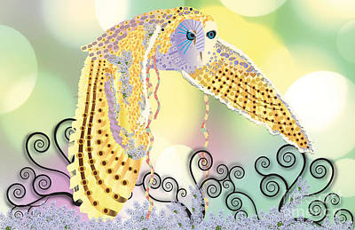 Orbs Digital Art - Kindred Light Owl by Kim Prowse