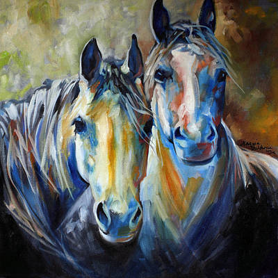 Animals Paintings - Kindred Souls Equine by Marcia Baldwin