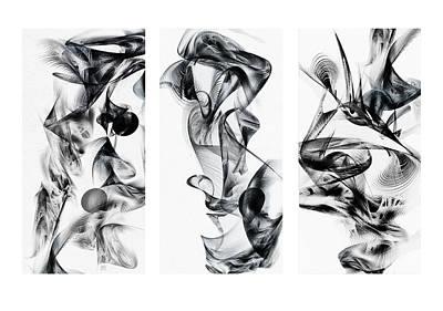 Kinetic Triptych Art Print