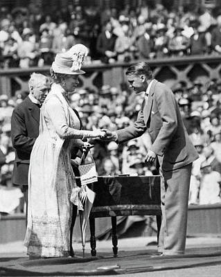 King George V Photograph - King And Queen At Wimbledon by Underwood Archives