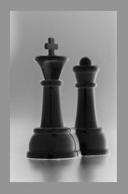 Surrealism Royalty-Free and Rights-Managed Images - KING AND QUEEN in BLACK AND WHITE by Rob Hans