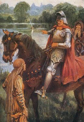King Arthur & Excalibur Art Print