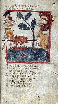 King Arthur And Giant Art Print by British Library