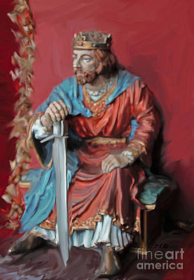 King Arthur And The Excalibur Art Print