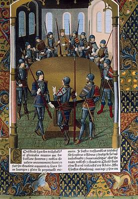 Besancon Photograph - King Arthur And The Knight Of The Round by Everett